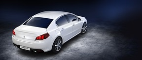 Peugeot 508 GT Line with a side view