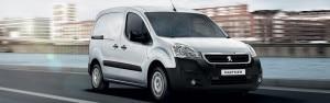 White Peugeot Partner